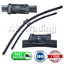 "FOR VOLKSWAGEN POLO MK5 2005-09 DIRECT FIT FRONT AERO WIPER BLADES PAIR 21"" 19"""