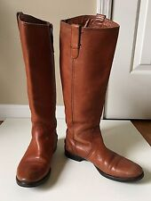 Madewell 1937 Footwear English Saddle Leather Riding Boots Knee Tall Size 8