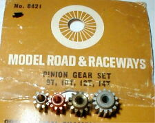 1960 Strombecker Slot Car Vintage 4 Pinion Gear Tune-up Kit 9T, 10T, 12T, 14T