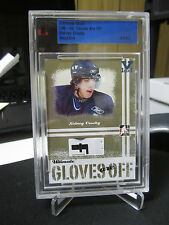 SIDNEY CROSBY RC 1/1 VAULT GOLD GLOVES ARE OFF ITG ULTIMATE SAPPHIRE ROOKIE 05