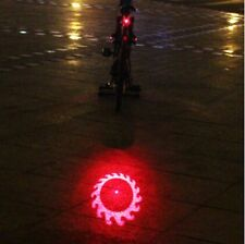 1Piece Bike Bicycle Laser Rear Light 6LED 6 Modes Tail Lamp Red / Green Flash