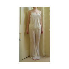 Jane Woolrich Cream Strappy Pyjamas Medium