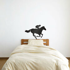 Horse Race Jockey Vinyl Wall Art Decal for Home Decor / Interior Design / Bed...