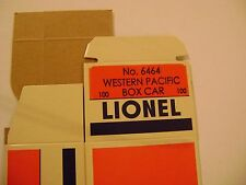 Lionel 6464-100 Western  & Pacific Box Car Licensed Reproduction Box