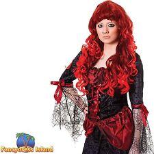 Gothique rouge/auburn halloween cheryl perruque femme ladies fancy dress costume