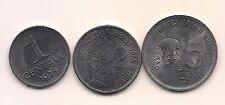 1975 Brazil One, Two & Five Centavos -- Uncirculated Beauties !!