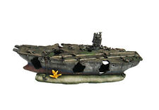 Aircraft carrier Aquarium Ornament Hide Cave Military Wreck Aircraft - Medium