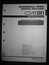 Yamaha Graphic Equalizer Q1131 Service Shop Manual Schematics Parts List 1992