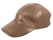 Genuine 100% Soft Leather Pre Curved Peak Baseball Cap Hat