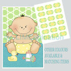 Pin the DUMMY on the BABY, BABY SHOWER GAME pink blue green/yellow