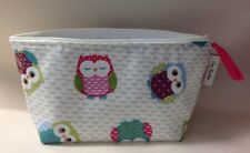 Make up toiletries bag In Owls Oilcloth