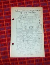 FORD CONSUL 1951 WIRING DIAGRAM A67. GARAGE AND MOTOR TRADER 1952