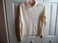 Woman  Sweater Top MockTurtle Neck White  Color
