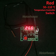 Red DC 12v Digital Temperature Meter Regler Module Switch Waterproof sensor