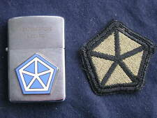 Zippo Lighter 1966 Headquarters V Corps, w/Military Patch, Vietnam War Era