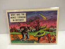 1957 Isolation Booth Card # 38 What Was The Worst Typhoon In History ?