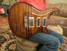 Prs Modern Eagle Limited Ltd. Black Gold One Piece Top Madagascar Rosewood Neck