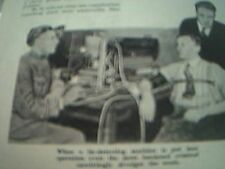 ephemera 1940 article the lie detector father walter summers inventor