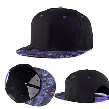 Men Women Galaxy Space Hip-hop Bboy Hat Adjustable Flat Snapback Baseball Cap