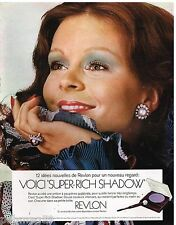 Publicité Advertising 1972 Cosmétique maquillage Revlon
