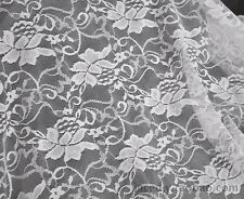 "Lace Fabric White Embroidery Flower Soft Gauze Wedding Fabric 59"" width 1 yard"