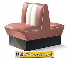 HW-70DB-Rose American Dinerbank Sitzbank Diner Bänke Möbel USA Style Gastronomie