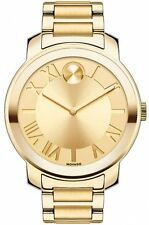 New Movado Women's Swiss Bold Gold Ion-Plated Steel Watch 39mm 3600197