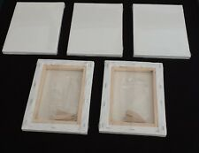 6  x Linen blank canvases 60x90 cm