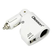 Dual USB Car Cigarette Lighter Socket Splitter DC 12V-24V Charger Power Adapter
