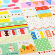 DIY Calendar Paper Sticker Scrapbook 6 sheet Calendar Diary Planner Decor CCC
