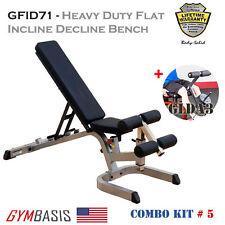 2016 NEW KIT BodySolid GFID71 Heavy Duty FID WEIGHT BENCH w/ Leg Developer GLDA3