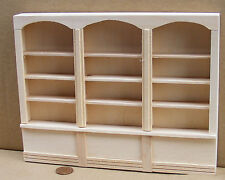 1:12 Natural Finish Wood Triple Shelf Unit Dolls House Miniature Furniture 060