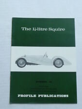 PROFILE.   Squire Sports Car.  1.5 litre.   1930s.  No 64.