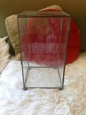 Vintage Glass CURIO Cabinet Brass Jewelry Store Display Box