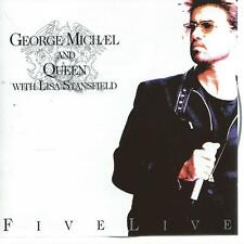 CD album - QUEEN & GEORGE MICHAEL - FIVE LIVE