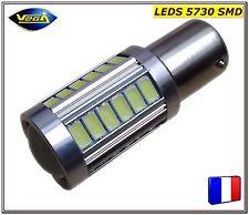 1 Ampoule P21W BA15S rouge 33 leds 5730 SMD 12V DC