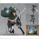 "6"" Anime Attack On Titan Levi PVC Action Figure Figma #213 New In Box O"