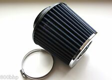 "Performance High Flow Cone Air Filter (100mm) 4"" Inch Neck Diameter BLUE/CHROME"