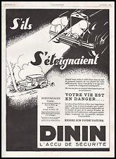 Publicité DININ Batterie Automobile Accessoires  car vintage print ad  1929 - 5h