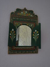 Beautifully Hand Painted Mirror With Doors from Morocco * GREEN*
