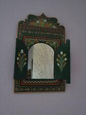 Magnifiquement peinte à la main miroir avec portes du maroc * vert *