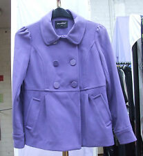 Atmosphere 12 Gorgeous lined Lilac Coat /Short Duble Breast Jacket Vintage Style