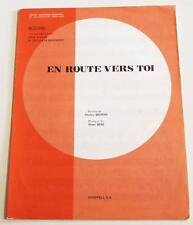 Partition sheet music DICK RIVERS (CHATS SAUVAGES) : En Route Vers Toi * 80's