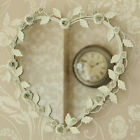 Cream floral heart mirror shabby vintage chic home accessory bedroom bathroom