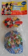 Party Cupcake Baking Cups DISNEY MICKEY MINNIE MOUSE with Picks 18 Pack S1