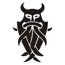 Odins Maske Aufkleber Germanen Sticker Kelten Tattoo