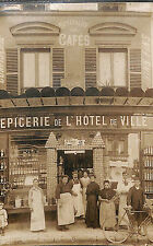 HERBLAY ? CARTE PHOTO EPICERIE DE L' HOTEL DE VILLE MAISON PILON TELEPHONE 111
