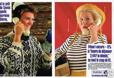 Publicité advertising 1987 (2 pages) France Telecom
