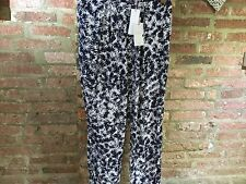 Capsule Collection John Lewis Relax Fit Fern Print Trousers - Navy - size 12