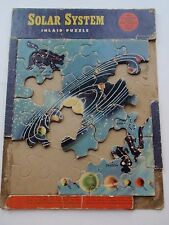 Vintage Solar System Inlaid Tray Puzzle Educational Fun to Learn Old Incomplete